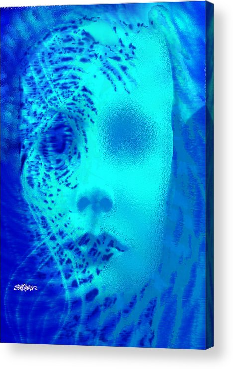 Shattered Doll Acrylic Print featuring the digital art Shattered Doll by Seth Weaver