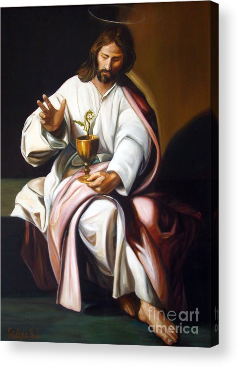 Classic Art Acrylic Print featuring the painting St John The Evangelist by Silvana Abel