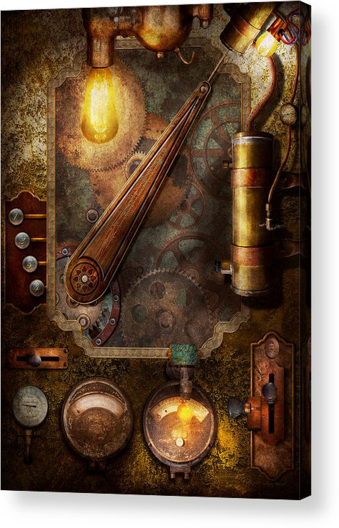 Steampunk - Victorian fuse box Acrylic Print by Mike SavadFine Art America