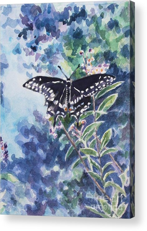 Butterfly Acrylic Print featuring the painting Swallowtail Butterfly by Jan Bennicoff