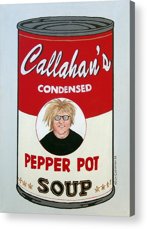Self Portrait Acrylic Print featuring the painting The Artist as Andy Warhol by Kevin Callahan