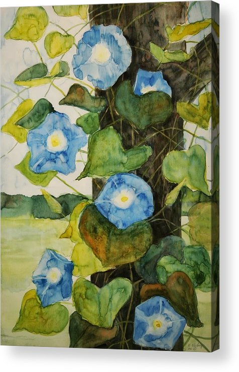 Acrylic Print featuring the painting Vine by Helen Hickey