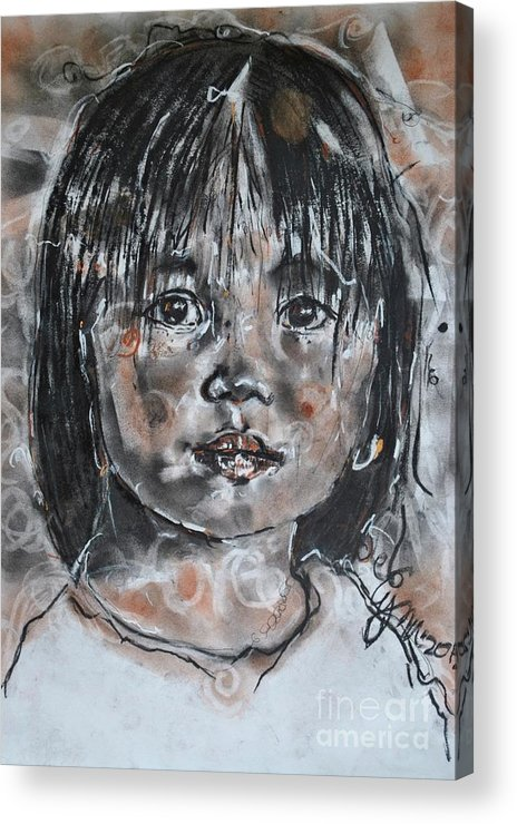 Drawing Acrylic Print featuring the drawing An Unencumbered Life 2012 by Lynn Gray