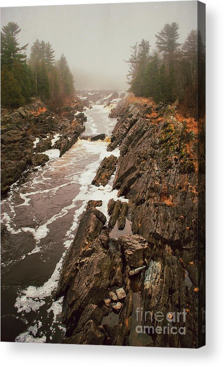 Jay Cooke Acrylic Print featuring the photograph Jay Cooke Under Fog by Ever-Curious Photography