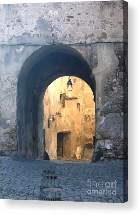 Sighisoara Acrylic Print featuring the photograph Old town gate 1 by Amalia Suruceanu