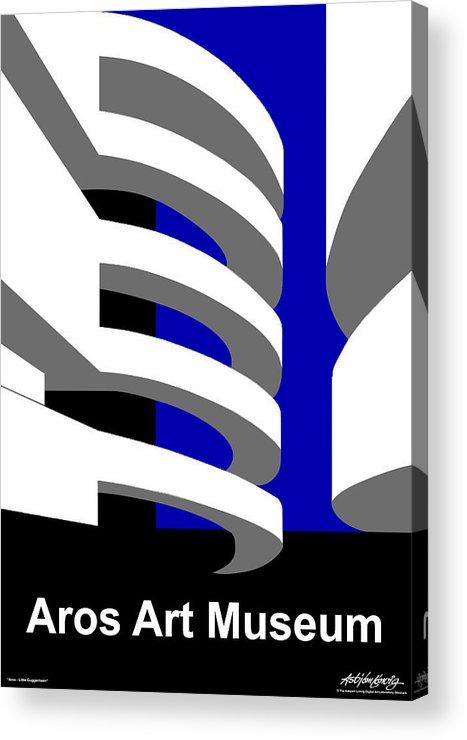 Aros Art Museum Acrylic Print featuring the digital art Aros Art Museum by Asbjorn Lonvig