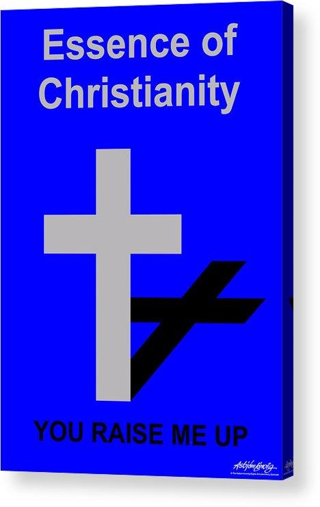 Christ Acrylic Print featuring the digital art Essence of Christianity by Asbjorn Lonvig