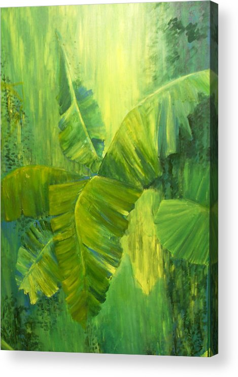 Rain Forest Nature Acrylic Print featuring the painting Rain Forest by Carol P Kingsley