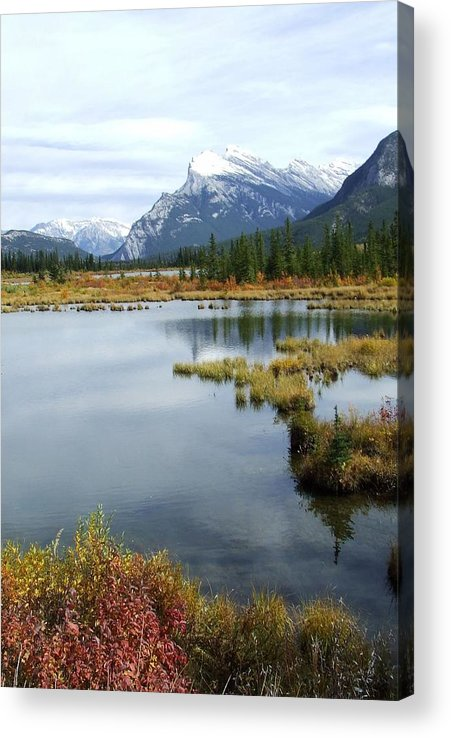 Banff National Park Acrylic Print featuring the photograph Vermillion Lakes by Tiffany Vest