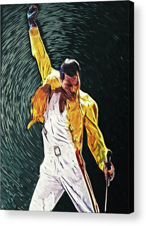 Queen Acrylic Print featuring the digital art Freddie Mercury by Zapista OU