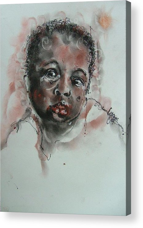 Children Acrylic Print featuring the drawing Untitled 3 by Lynn Gray