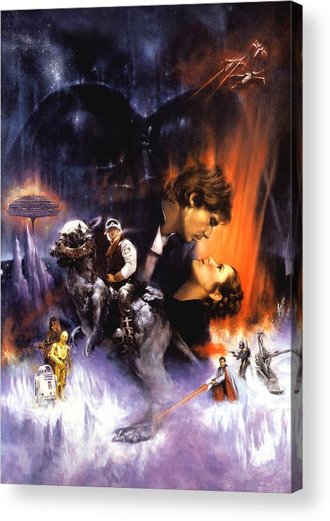 Star Wars Episode V The Empire Strikes Back 1980 Acrylic Print By Geek N Rock