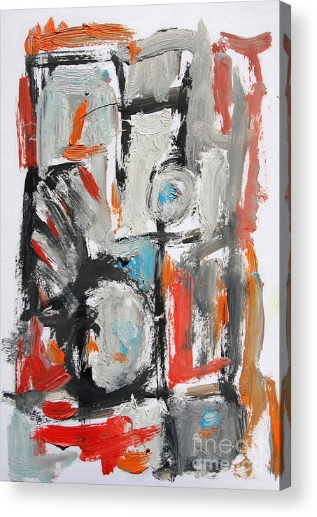 Abstract Acrylic Print featuring the painting Abstract 6831 by Michael Henderson