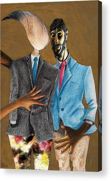 Sex Gay Androginality Couple Love Relation Acrylic Print featuring the mixed media Androginality by Veronica Jackson