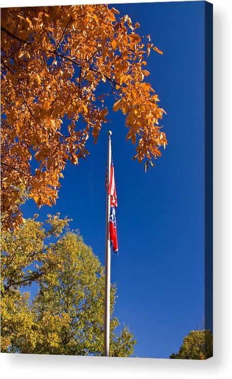 Flag Acrylic Print featuring the photograph Autumn Flag by Douglas Barnett