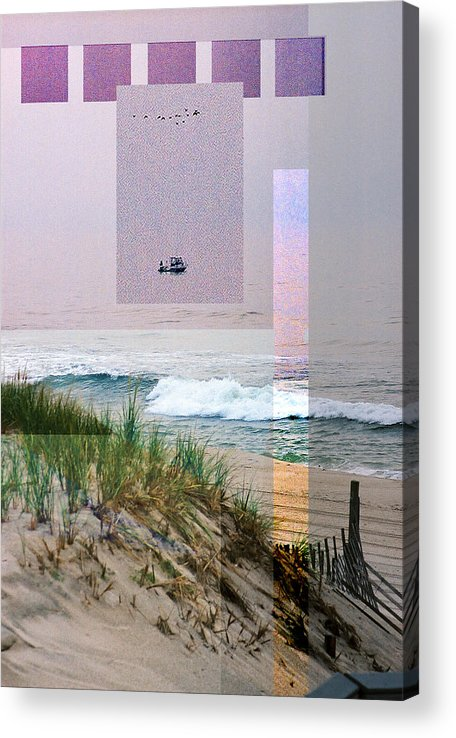 Landscape Acrylic Print featuring the digital art Beach Collage 3 by Steve Karol