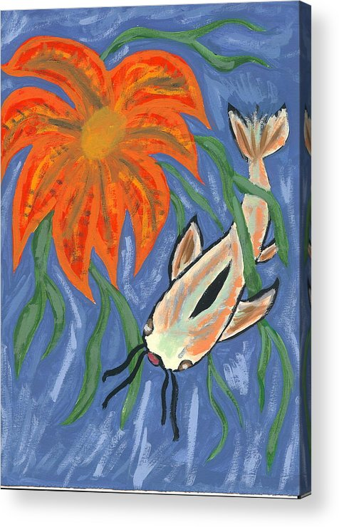 Flower Acrylic Print featuring the painting Belize by Laura Lillo