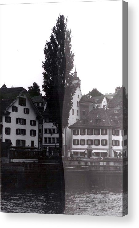 Black And White Acrylic Print featuring the photograph Black Lucerne by Christian Eberli