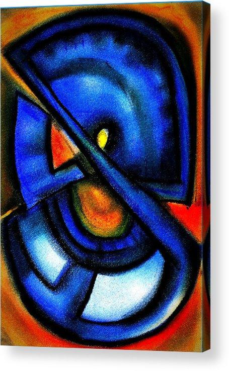 Blue Fans Acrylic Print featuring the digital art Blue Fans - Pastels by J Kamaru