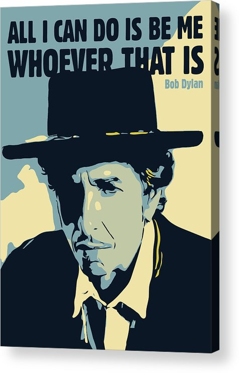 Bob Dylan Acrylic Print featuring the digital art Bob Dylan by Greatom London