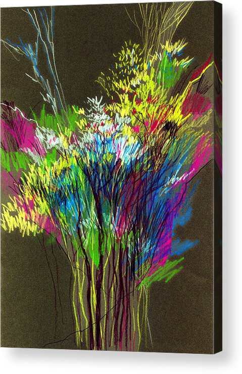 Flowers Acrylic Print featuring the painting Bouquet by Anil Nene