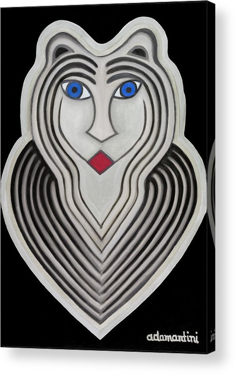 Tiger Acrylic Print featuring the painting Celestial Woman by Adamantini Feng shui