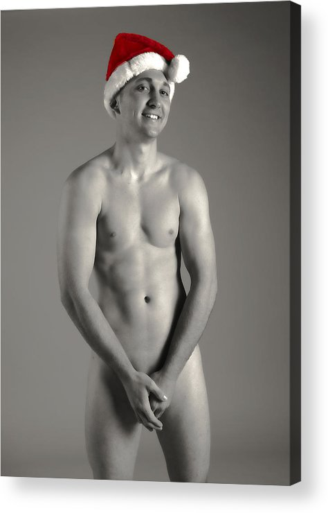 Male Nude Acrylic Print featuring the photograph Christmas Cheer by Dan Nelson