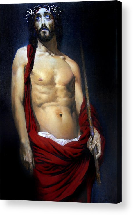 Altar Acrylic Print featuring the painting Coronation by Valeriy Mavlo
