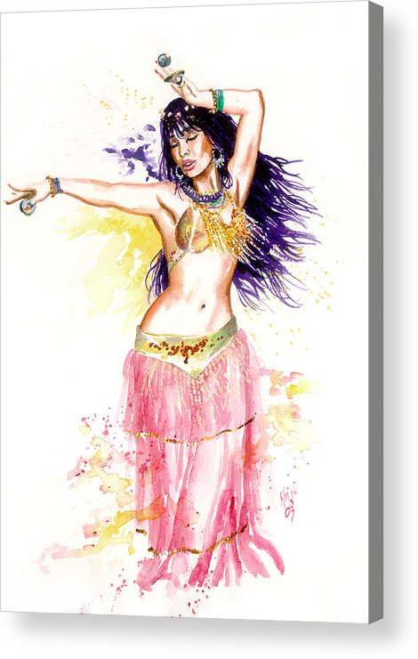 Women Acrylic Print featuring the painting Dancing Girl by Ken Meyer jr