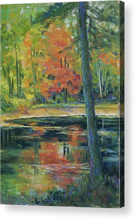 Fall Acrylic Print featuring the painting East Coast Autumn by Billie Colson