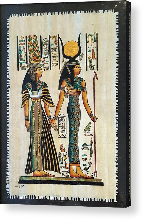 Temple Of Horus Acrylic Print featuring the photograph Egyptian Papyrus by Rob Hans