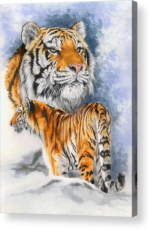 Big Cats Acrylic Print featuring the mixed media Forceful by Barbara Keith