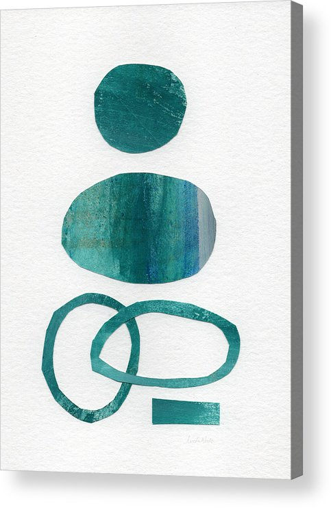 Abstract Art Acrylic Print featuring the mixed media Fresh Water by Linda Woods