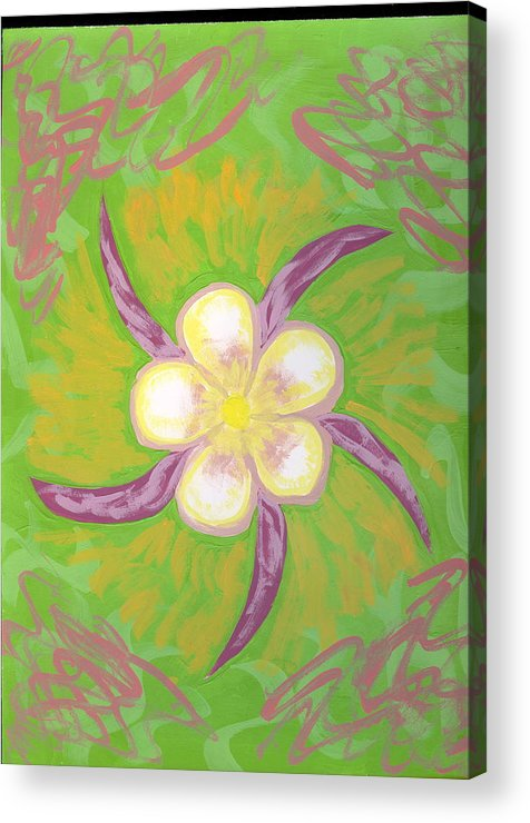 Flower Acrylic Print featuring the painting Geisha by Laura Lillo