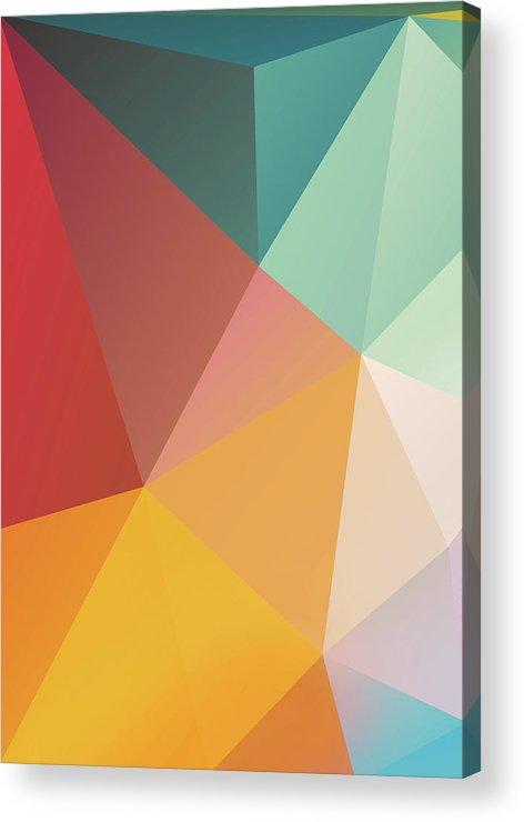 Acrylic Print featuring the digital art Geometric XXIX by Ultra Pop