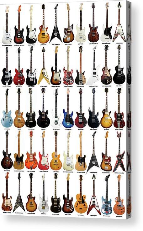 Guitar Acrylic Print featuring the digital art Guitar Legends by Zapista OU