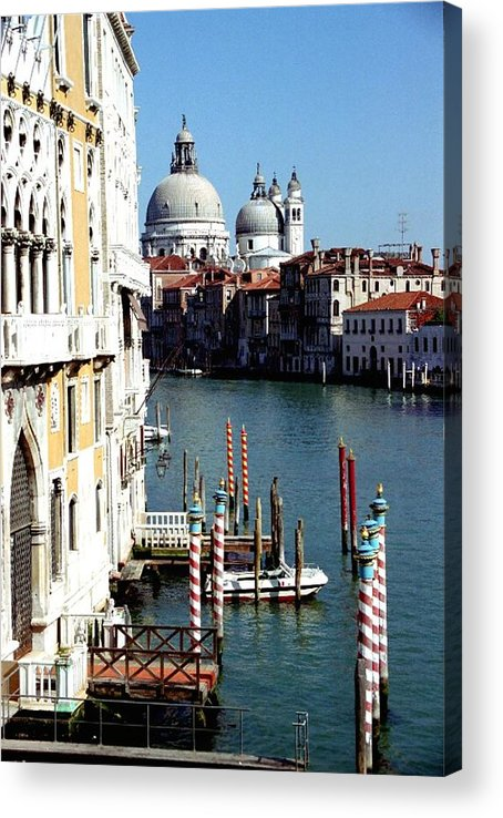 Venice Acrylic Print featuring the photograph Grand Canal In Venice From Accademia Bridge by Michael Henderson