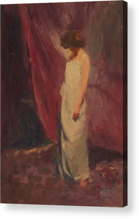 Woman Acrylic Print featuring the painting Halkag SOLD by Irena Jablonski