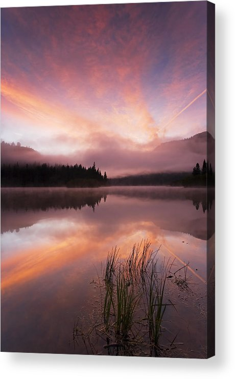 Sunrise Acrylic Print featuring the photograph Heavenly Skies by Mike Dawson