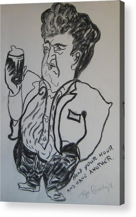 Brendan Acrylic Print featuring the painting Hold your hour and have another. by Roger Cummiskey