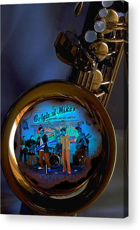 Music Acrylic Print featuring the photograph Inner City Soul by Linda Kish