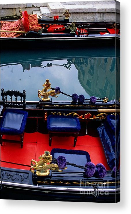 Venice Acrylic Print featuring the photograph Inside Gondola In Venice by Michael Henderson