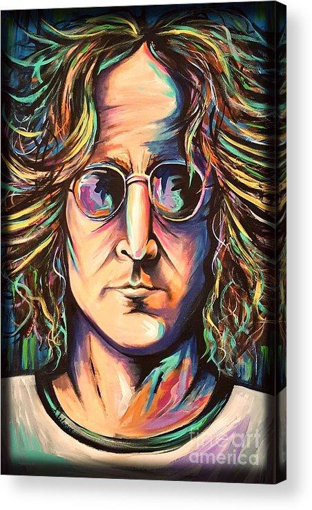 John Lennon Acrylic Print featuring the painting John Lennon by Amy Belonio