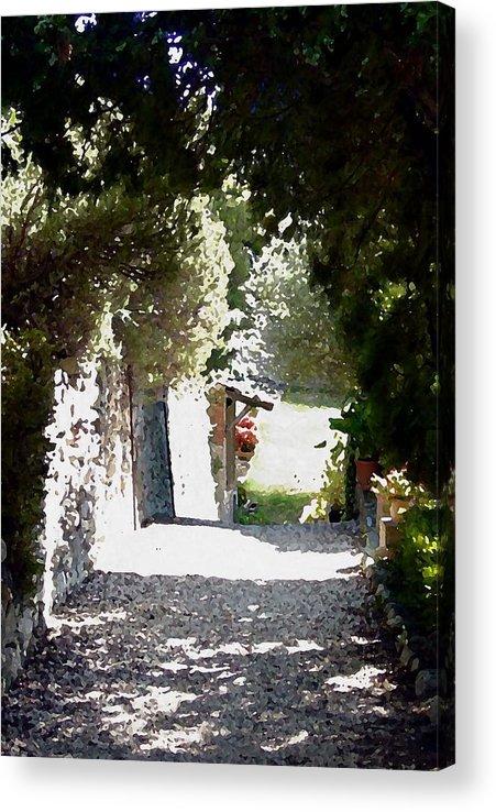 La Romita Acrylic Print featuring the digital art La Romita Garden Path by Tom Herrin