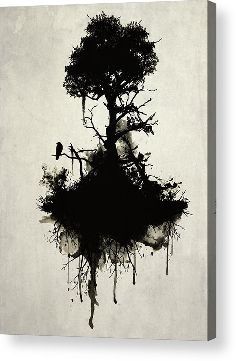 Nature Acrylic Print featuring the painting Last Tree Standing by Nicklas Gustafsson