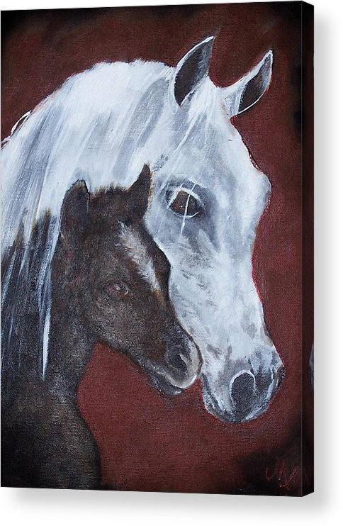 Horse Acrylic Print featuring the painting Mama by Martha Mullins