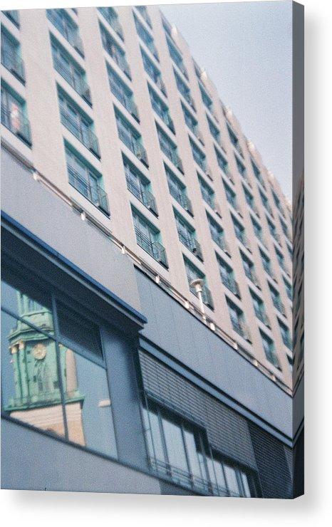 Mirrored Acrylic Print featuring the photograph Mirrored Berlin by Nacho Vega