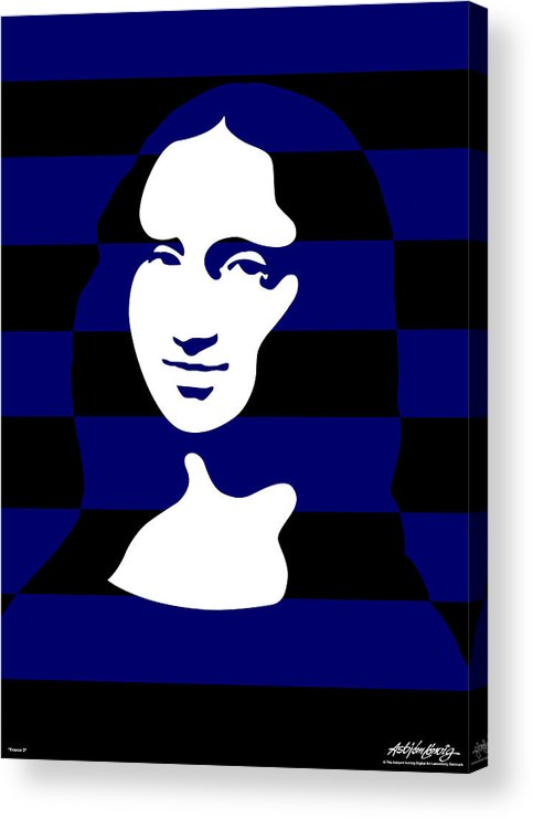 Mona Lisa Acrylic Print featuring the digital art Mona Lisa by Asbjorn Lonvig