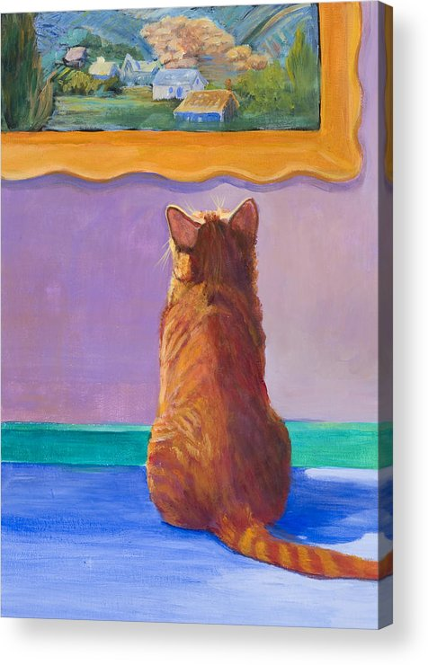 Animal Acrylic Print featuring the painting Museum Cat 2 by Jimmie Trotter