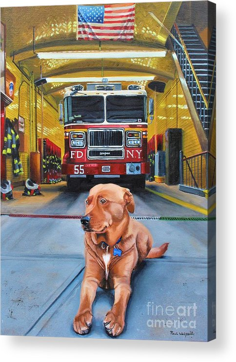 Fdny Acrylic Print featuring the painting Nickels by Paul Walsh